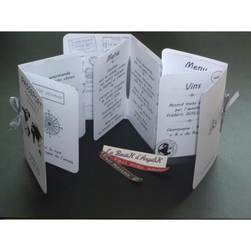 Faire-Part ou Menu Cupcake Chocolat et Fuchsia