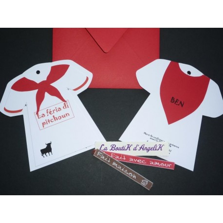 "Faire-Part Maillot ""La Féria Di Pitchoun"""