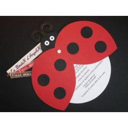 Menu ou Faire-part Coccinelle