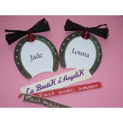 Faire-Part hexagonal chocolat, macaron rose