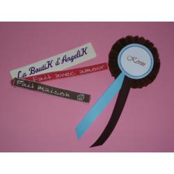 Menu Boîte à Cigares chocolat et ivoire