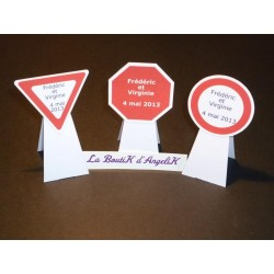 Marque-Place Signalisation chevalet (x3)